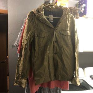 Gap tan light hooded jacket